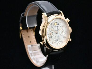 【ウォッチ】ShellmanシェルマングランドコンプリケーションプレミアムピンクゴールドメッキメンズQZクォーツ腕時計6771-T011179TA【中古】