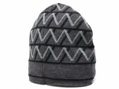 【アパレル】LOUISVUITTONルイヴィトンニット帽帽子ウール100%ブラックグレー【中古】