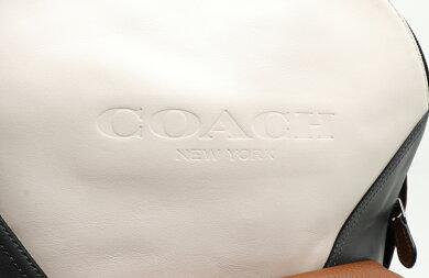 【未使用品】【バッグ】COACHコーチチャールズパッチワークリュックバックパックリュックサックレザーアイボリーブラウングレーF57482【中古】