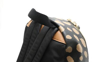 【新品未使用品】【バッグ】COACHコーチバックパックリュックサックディアスポットミニチャーリーブラック黒ベージュ茶F39030