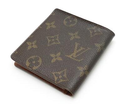 【財布】LOUISVUITTONルイヴィトンモノグラムポルトビエ6カルトクレディ2つ折札入れM60929【中古】
