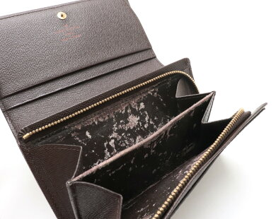 【財布】LOUISVUITTONルイヴィトンダミエポルトモネビエトレゾール2つ折L字型ファスナー財布N61730【中古】