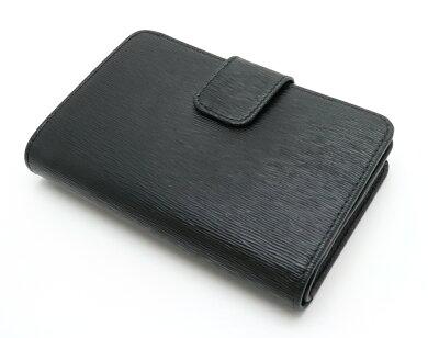 【財布】PRADAプラダVITELLOMOVE2つ折財布L字ファスナー型押しレザーNEROブラック黒ゴールド金具1ML225【中古】