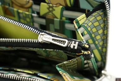 【財布】HERMESエルメスアザップコンパクトシルクインラウンドファスナースカーフ小銭入れコインケースヴォーエプソンブラック黒C刻印【中古】