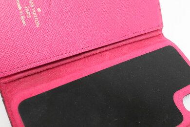 LOUISVUITTONルイヴィトンモノグラムiPhoneXフォリオケースアイフォンケーススマホケース携帯ケースカバーローズM63444【中古】