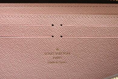【新品未使用品】【財布】LOUISVUITTONルイヴィトンモノグラムポルトフォイユクレマンスラウンドファスナー長財布ローズバレリーヌピンクM61298