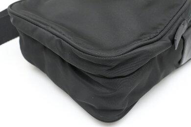 【バッグ】PRADAプラダショルダーバッグ斜め掛けナイロンレザーNERO黒ブラックBT0169【中古】
