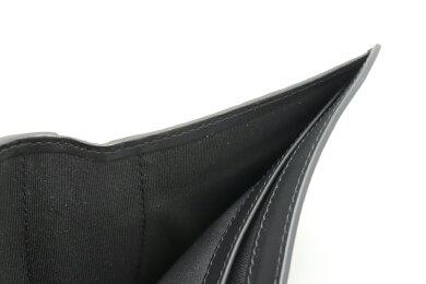 【新品未使用品】【財布】BURBERRYバーバリー2つ折り財布2つ折り札入れレザーブラック