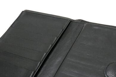 【財布】CHANELシャネルキャビアスキンがま口ガマ口長財布ココマークレザー黒ブラックA13498【中古】