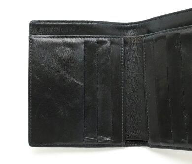 【財布】CHANELシャネルキャビアスキンココマーク2つ折Wホック財布ダブルホックレザー黒ブラックA13496【中古】