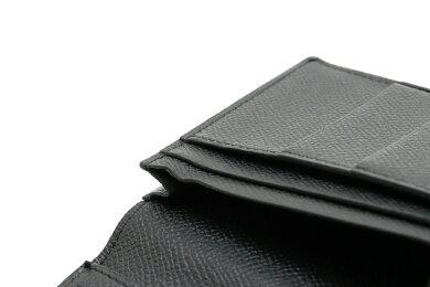 【財布】HERMESエルメスベアンスフレ長財布ヴォーエプソンレザーシルバー金具ブラック黒A刻印【中古】