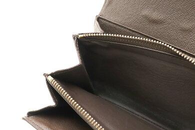 【財布】LOUISVUITTONルイヴィトンダミエポルトフォイユサラ2つ折ファスナー長財布N61734【中古】