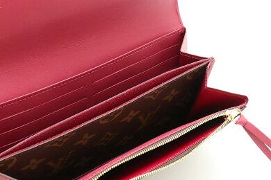 【未使用品】【財布】LOUISVUITTONルイヴィトンモノグラムポルトフォイユフロール長財布フューシャM64585【中古】