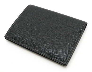 Cartierカルティエサントスラインカードケース名刺入れグレインカウハイドレザー黒ブラックL3000771【中古】