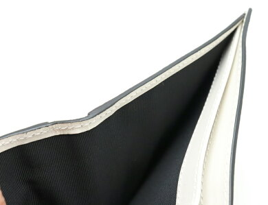 【新品未使用品】【財布】BURBERRYバーバリー2つ折り財布2つ折り札入れレザーストライプブラック黒ホワイト白