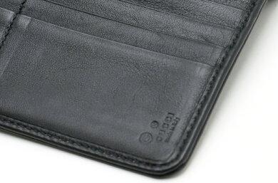 【財布】GUCCIグッチマイクログッチシマ3つ折り長財布ラウンドファスナーレザー黒ブラック449364【中古】
