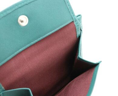 【未使用品】【財布】PaulSmithポールスミスポールスミス2つ折り財布ソフトレザーグリーン緑ブラウン茶【中古】