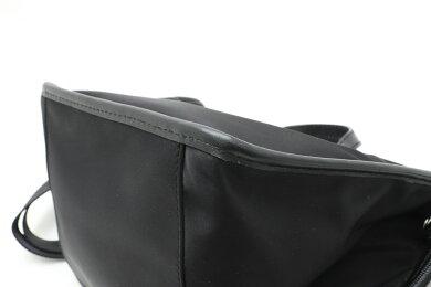 【バッグ】HUNTINGWORLDハンティングワールドハンドバッグショルダーバッグ2WAYナイロンレザーブラック黒【中古】