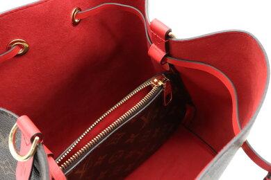 【新品未使用品】【バッグ】LOUISVUITTONルイヴィトンモノグラムネオノエショルダーバッグセミショルダーワンショルダー巾着型コクリコレッド赤M44021
