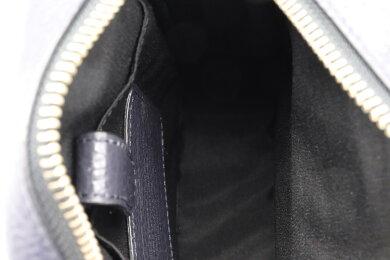 【バッグ】COACHコーチツーリングぺブルレザーショルダーバッグ斜め掛けミッドナイトネイビー紺シルバー金具F72363【中古】