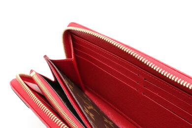 【財布】LOUISVUITTONルイヴィトンモノグラムジッピーウォレットレティーロラウンドファスナー長財布レザースリーズ赤レッドM61187【中古】