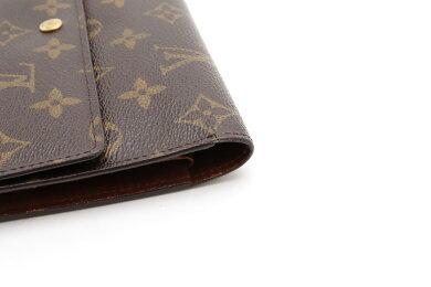 【財布】LOUISVUITTONルイヴィトンモノグラムポルトトレゾールインターナショナル3つ折長財布M61215【中古】