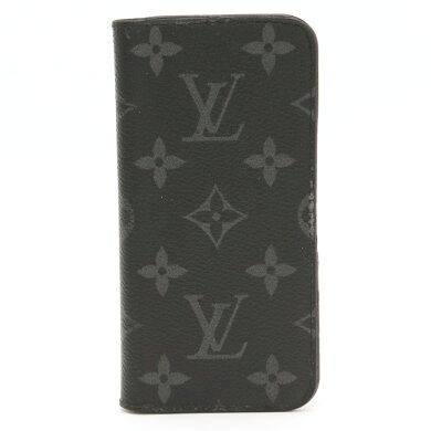 LOUISVUITTONルイヴィトンモノグラムエクリプスiPhone78アイフォンフォリオスマートフォンカバーイニシャル入りM62640【中古】