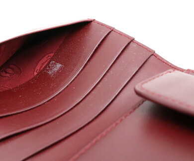 【財布】Cartierカルティエマストラインマストドゥカルティエ2つ折財布レザーボルドーゴールド金具L3000451【中古】