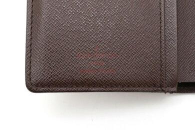 【財布】LOUISVUITTONルイヴィトンダミエポルトフォイユヴィエノワ2つ折がま口財布ガマ口N61674【中古】
