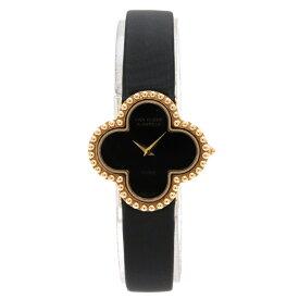 【ウォッチ】【新品仕上げ済】Van Cleef & Arpels ヴァン クリーフ & アーペル アルハンブラ K18YG サテンブレス レディース QZ クォーツ 腕時計 122974 【中古】