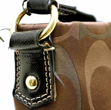 6ff43577c172 【バッグ】COACHコーチシグネチャーファイルバッグショルダーバッグ斜め掛けサテンキャンバスパテントレザー