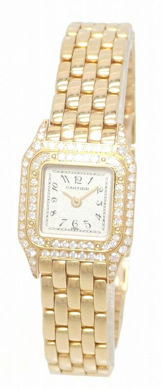 【ウォッチ】Cartier カルティエ ミニパンテール 2重ダイヤ K18YG 750YG イエローゴールド レディース QZ クォーツ 腕時計 WF3141B9【中古】【u】【Blumin 楽天市場店】