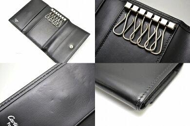 【中古】Cartierカルティエパシャライン6連キーケースレザー黒ブラックシルバー金具L3000127【k】【Blumin楽天市場店】