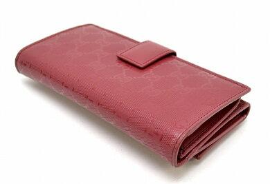 【中古】【財布】GUCCIグッチインプリメGGPVC長財布赤レッド2121040959【k】【Blumin楽天市場店】