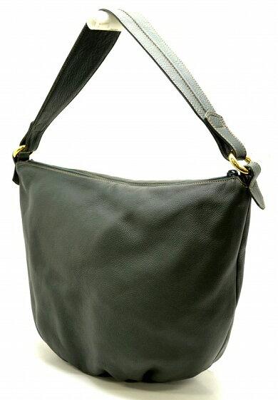 【バッグ】LOEWEロエベロゴレザーショルダーバッグワンショルダーダークグリーン【中古】【k】【Blumin楽天市場店】