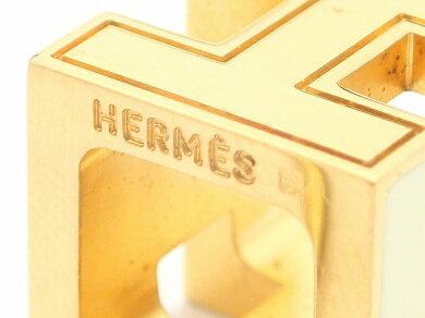 【ジュエリー】HERMESエルメスカージュドアッシュHキューブHロゴネックレスチョーカーゴールドオフホワイト【中古】【k】【Blumin楽天市場店】