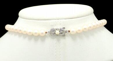 【ジュエリー】MIKIMOTOミキモトパールネックレス真珠7m/m~7.5m/mK14WGホワイトゴールド金具【中古】【k】【Blumin楽天市場店】
