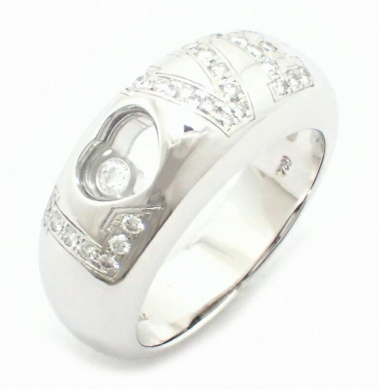 【ジュエリー】【新品仕上げ済】Chopard ショパール ハッピーダイヤ 1Pダイヤ リング 指輪 K18WG ホワイトゴールド ダイヤモンド 14号 #14 82/2899-20 【中古】【k】【Blumin 楽天市場店】