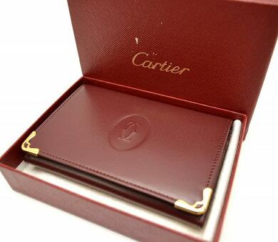 【新品未使用品】Cartierカルティエマストラインカードケースパスケース定期入れボルドーゴールド金具【k】【Blumin楽天市場店】