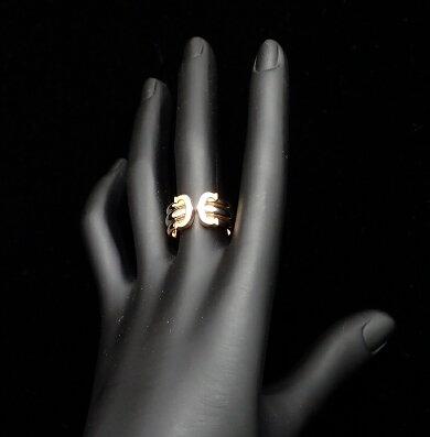 【中古】【ジュエリー】【新品仕上げ済】Cartierカルティエ2Cリングスリーカラー指輪13号#53K18スリーゴールドイエローピンクホワイト3カラーC2【k】【Blumin楽天市場店】