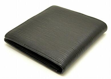 【財布】LOUISVUITTONルイヴィトンエピポルトビエコンパクト2つ折財布ノワール黒ブラックM63552【中古】【k】【Blumin楽天市場店】
