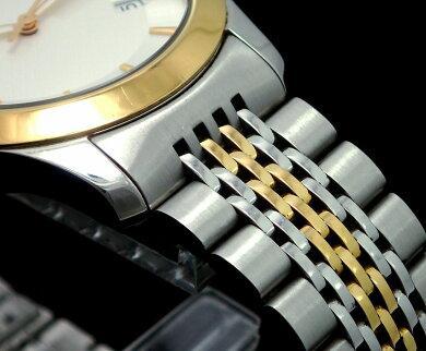 【ウォッチ】GUCCIグッチGタイムレスコレクションデイトSS/GPコンビゴールドカラー38MMホワイト文字盤メンズクォーツ腕時計126.4【中古】【k】【Blumin楽天市場店】