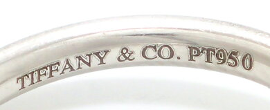 【ジュエリー】TIFFANY&Co.ティファニーエルサペレッティカーブドバンドリング指輪9.5号#9.5Pt950プラチナ【中古】【k】【Blumin楽天市場店】