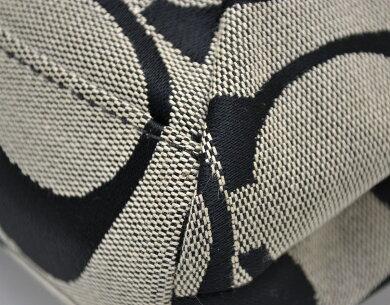 【バッグ】COACHコーチシグネチャーストライプデミクロスボディーショルダーバッグ2WAYキャンバス黒ブラックグレーF19218【中古】【k】【Blumin楽天市場店】