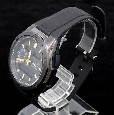 【ウォッチ】CASIOカシオウェーブセプターソーラー電波時計デイトブラック文字盤アナログデジタルメンズ腕時計WVA-M650【中古】【k】【Blumin楽天市場店】