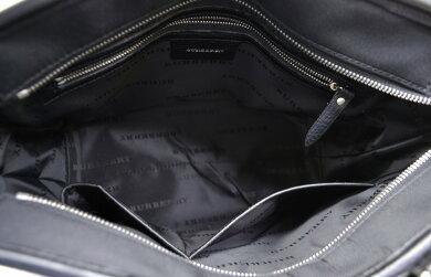 【バッグ】BURBERRYバーバリーノバチェックチェック柄トートバッグハンドバッグナイロンキャンバスレザーベージュ黒ブラック【中古】【k】【Blumin楽天市場店】