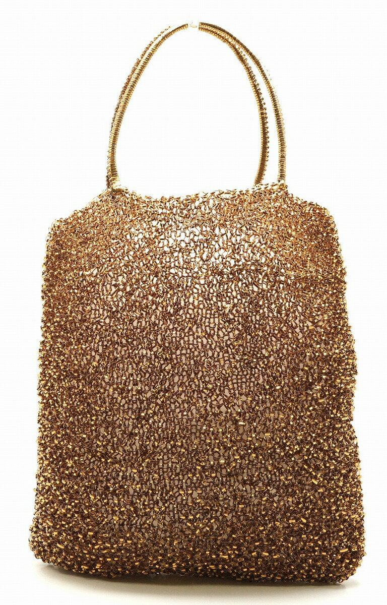 【バッグ】ANTEPRIMA アンテプリマ ワイヤーバッグ ハンドバッグ トートバッグ ゴールドブラウン 【中古】【k】【Blumin/森田質店】【質屋出店】
