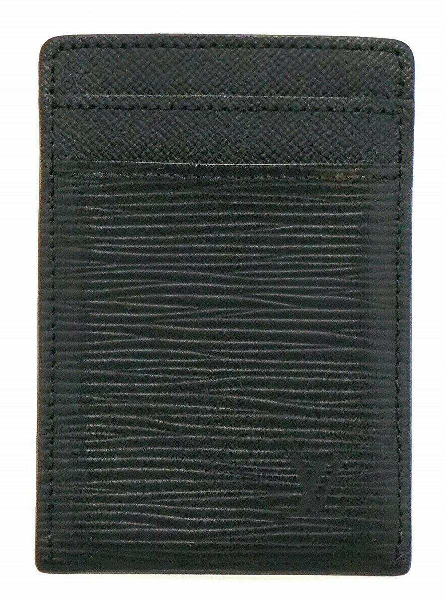 【財布】LOUIS VUITTON ルイ ヴィトン エピ ポルトカルト パンス カードケース 名刺入れ マネークリップ ノワール 黒 ブラック M60322【中古】【k】
