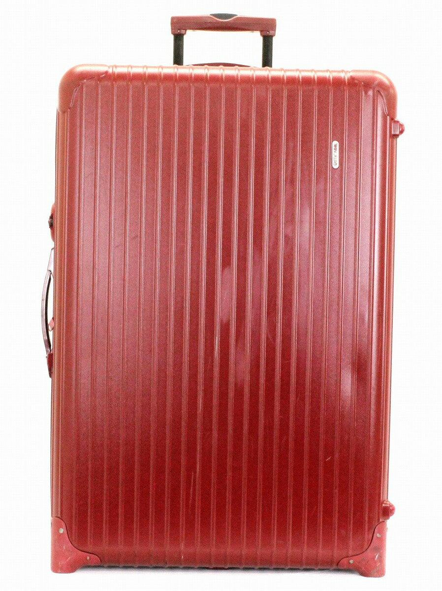 【バッグ】RIMOWA リモワ サルサ キャリーバッグ キャリーケース 91L キャスター付トラベルバッグ 旅行 スーツケース トランクケース レッド 赤 【中古】【k】