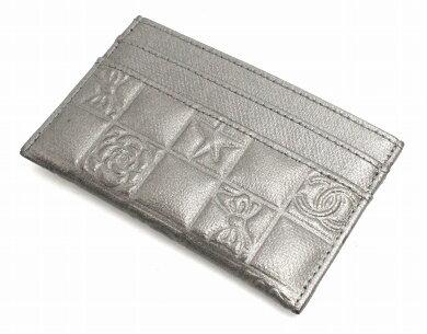 46fa3e63a3f0 【財布】CHANELシャネルアイコンラインココマークカードケース名刺入れパスケースレザー